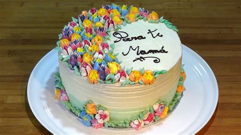 tartas en flor el receta tarta buttercream de merengue suizo decorada con