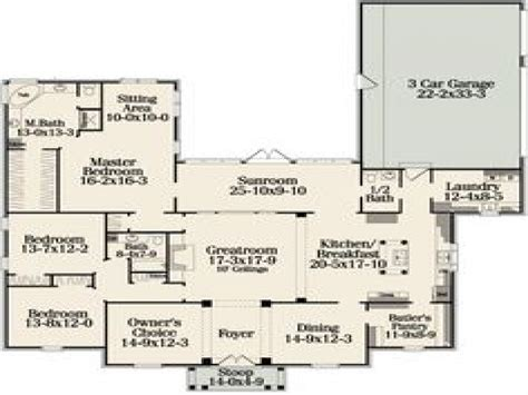 Best One Story House Plans | one floor house plans with open concept best one story
