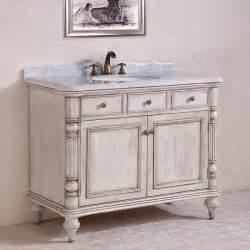 carrara white marble top single sink bathroom vanity in