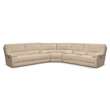 garrison 2 pc leather sectional sofa coronado leather 3 pc power reclining sectional value