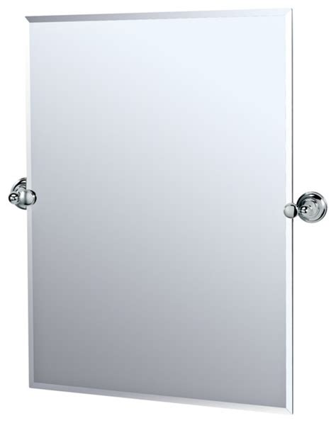 chrome bathroom mirrors gatco chrome tiara 31 1 2 quot high tilt vanity mirror contemporary mirrors