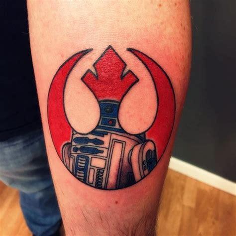 simple comic books like colored rebel emblem tattoo on