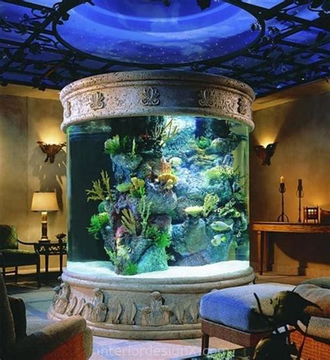 aquarium design  living room daily interior design