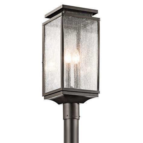 outdoor post mount lights 3 light outdoor post mount manningham collection