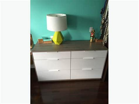 Ikea Bedroom Dresser ikea askvoll dresser 6 drawers new condition saanich victoria