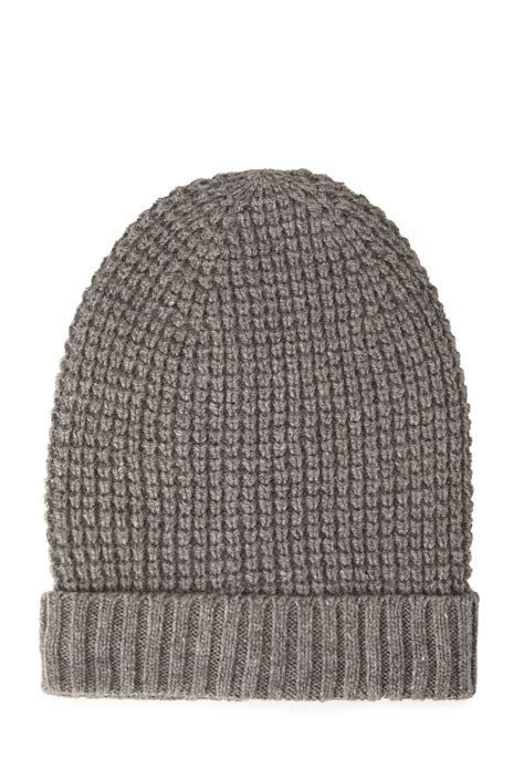 waffle knit forever 21 waffle knit fold beanie in gray grey lyst