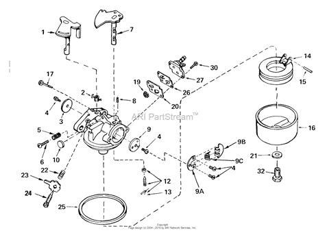 tecumseh carburetor parts diagram tecumseh ca 632480 parts diagram for carburetor