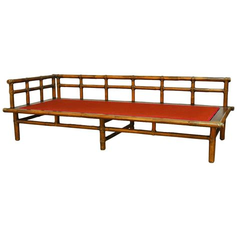 bamboo daybed asian style bamboo daybed by mcguire at 1stdibs