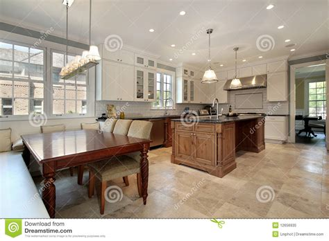 kitchen eating area bench stock image image