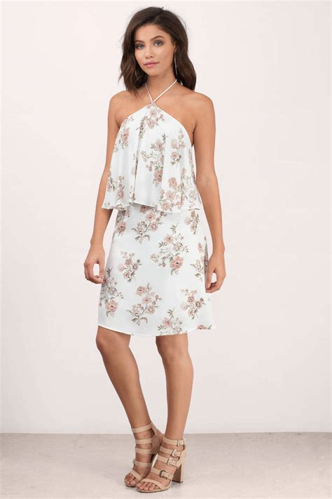 Printed Day Dresses by Margot Ivory Floral Print Day Dress 43 00 Tobi