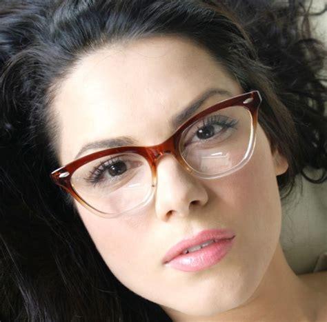 Cat Eye Biru Top 50 s vintage retro style brown gradient frame cat eye eyeglasses glasses best retro