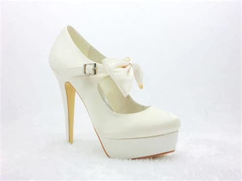 white platform stiletto heels closed toe prom evening