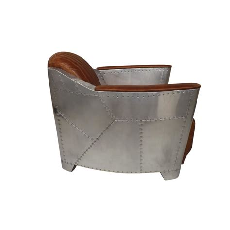 Aviator Armchair by Industrial Aviator Style Armchair In Stitched Leather And