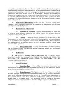 intellectual property agreement template proprietary information and intellectual property