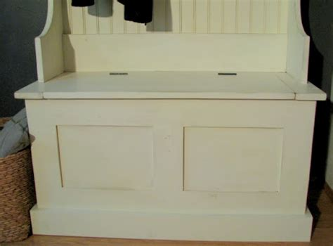 hallway bench plans entry storage bench plans free quick woodworking projects