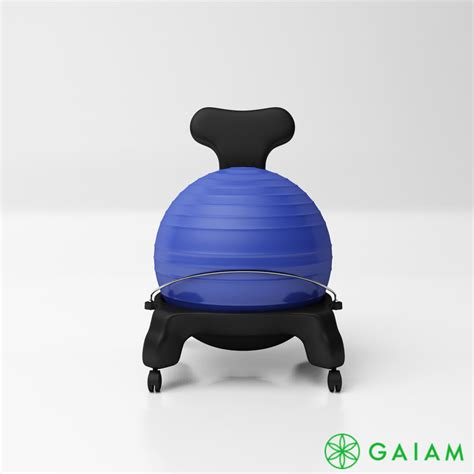 gaiam classic balance ball chair turbosquid