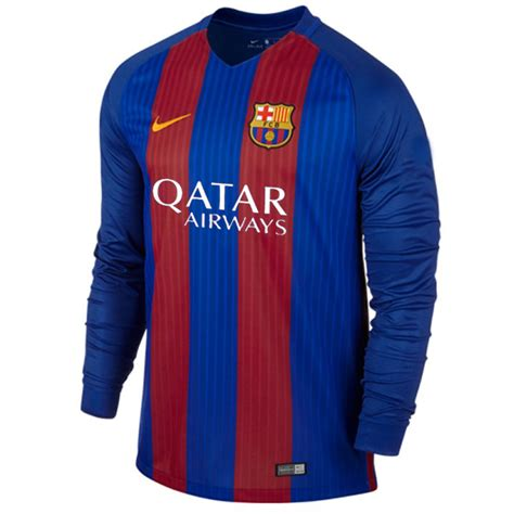 Jersey Grade Ori Barca Home New 2016 2017 Official Murah jersey barcelona home lengan panjang 2017 nike jual
