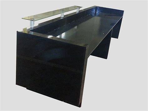 Black Reception Desk Ref 0507 Reception Desk In Black High Gloss Glass On Top