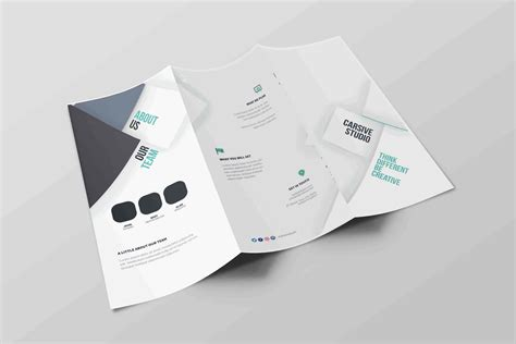 free download tri fold premium brochure with psd
