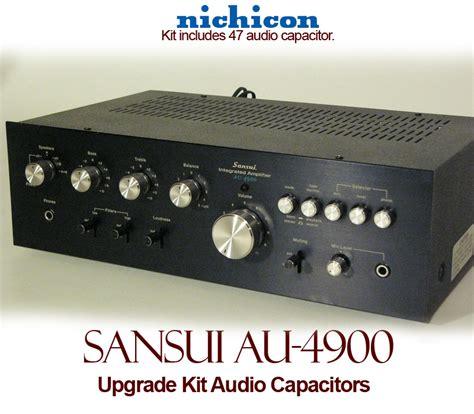audio capacitor kit sansui au 4900 upgrade kit audio capacitors