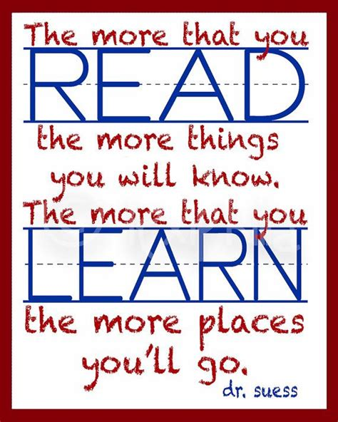 printable quotes about reading 254 best dr seuss homeschool images on pinterest