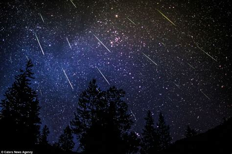 meteor shower looking out the window