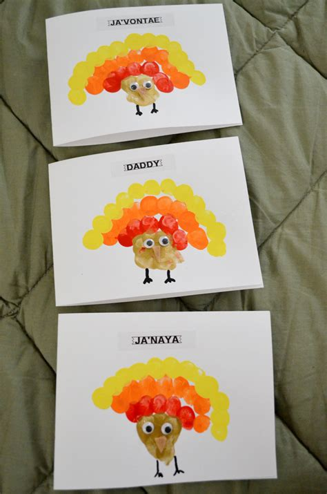 thanksgiving cards to make crafty thanksgiving make thumbprint turkey cards