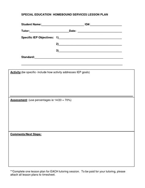 education lesson plan template 13 best images of special education lesson plan format
