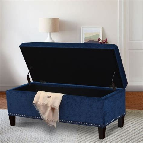 navy blue storage bench bench design astonishing navy storage bench navy leather