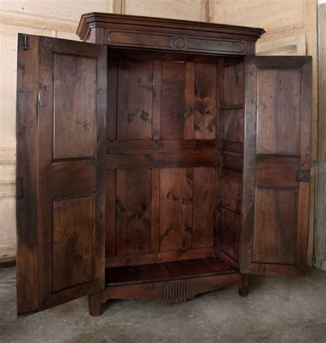 Antique Walnut Armoire by Antique Directoire Period Walnut Armoire At 1stdibs