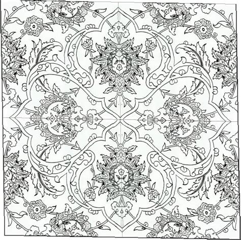 islamic tile coloring pages tile coloring for kids ornaments arabesques islam iznik