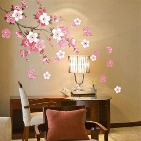 bedroom walls diy butterfly wall decor art ideas for and aliexpress com buy sakura flower bedroom room vinyl
