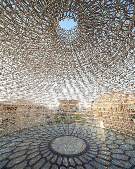 designboom uk pavilion expo milan 2015 inside the hive at the uk pavilion