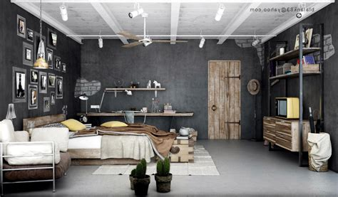 industrial look industrial bedrooms with detail interior design