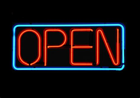 neon open sign free stock photo domain pictures