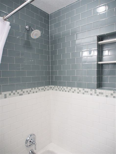 glass subway tile bathroom lush 3x6 glass subway tile installations eclectic