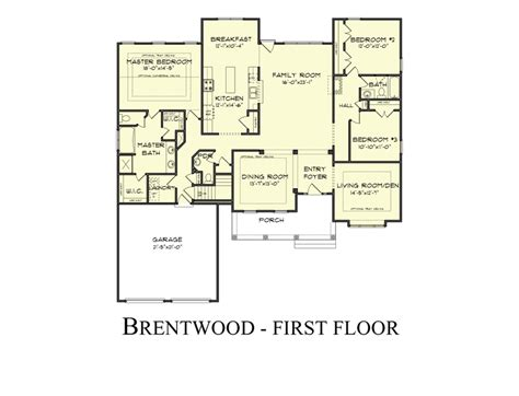 Brentwood Floor Plan the brentwood model by castle rock builders