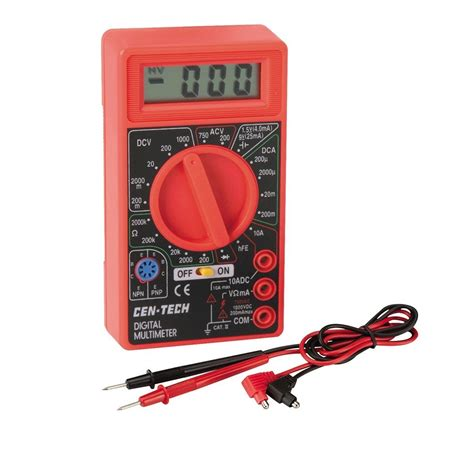 Probe Multimeter 7 function digital multimeter battery tester meter