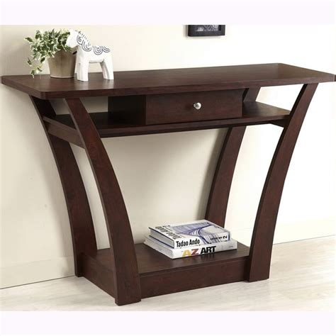 bentwood walnut sofa table magnolia modern 1 drawer walnut sofa table
