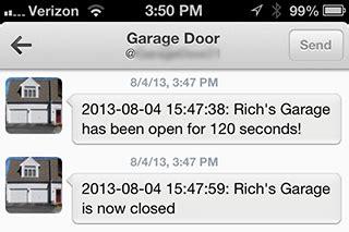 your garage door email tweet or sms part 1