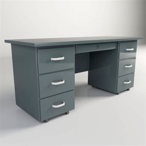 Steel Office Desk Steel Office Desk 3ds