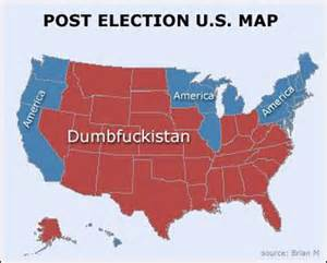 post election us map dumbfuckistan
