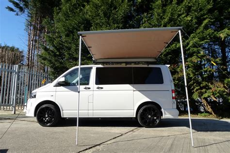 vw transporter awning van guard vw transporter t5 t6 2 ulti roof bars with pull out awning 2m x 2m