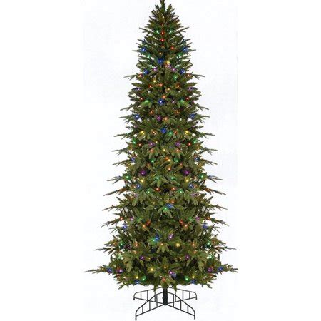 walmart in store pre lit slim tree on sale 7 5 pre lit slim palisade artificial tree multi led lights walmart