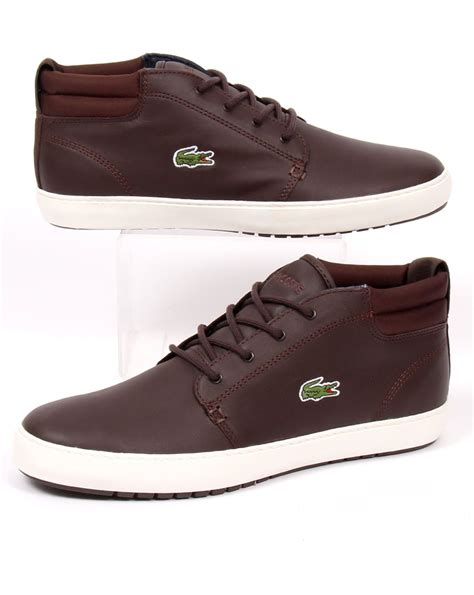 lacoste thill terra boots brown leather s shoes