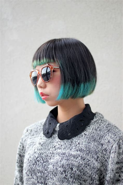 dyed bobs 1919 best hair images on pinterest colourful hair