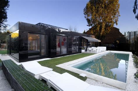 prefabricated pool houses dream house modular house in madrid spain by a