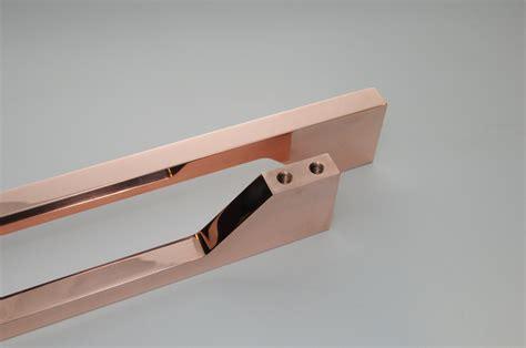 Solid Copper Fridge Handles Yardley Bespoke Copper Kitchen Door Handles