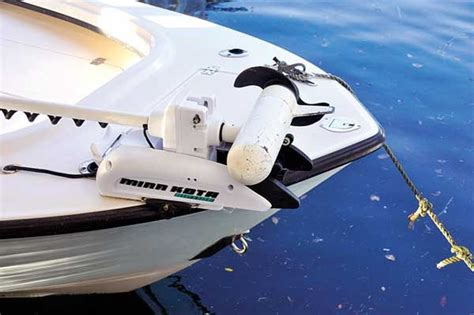 bow mount boat light mounting a trolling motor trailering boatus magazine