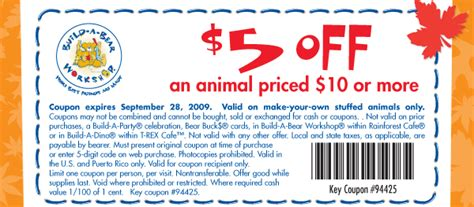 Where Can You Buy Build A Bear Gift Cards - build a bear coupons save 9 w 2015 coupons coupons